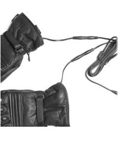 12V Heated Motorcycle Leather Gloves