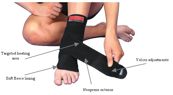 Rechargeable Infrared Heat Therapy Ankle Wrap