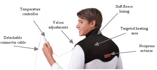 Plug-in Infrared Heat Therapy Neck & Shoulder Wrap