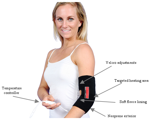 At-Home Infrared Heat Therapy Elbow Wrap