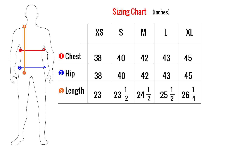 BH1686 sizing chart